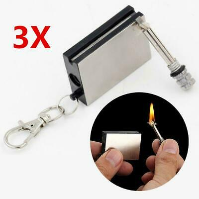 3PCS Match Lighter Outdoor Camping Metal Permanent Striker Survival Flame Gifts