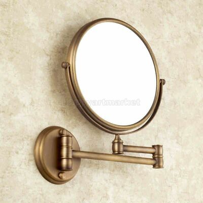 Double-sided Antique Brass Wall Mount Cosmetic Mirror Magnify 3X Make-up Mirror