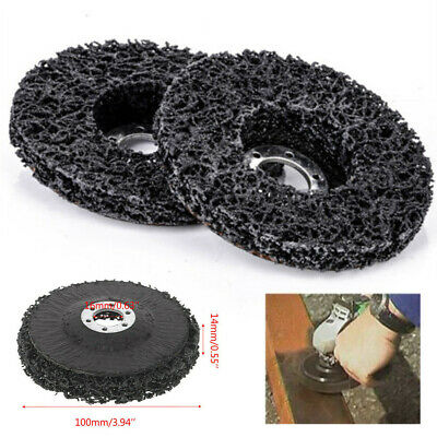 5X of Poly Strip Disc Abrasive Wheel Paint Rust Removal Clean For Angle Grinder