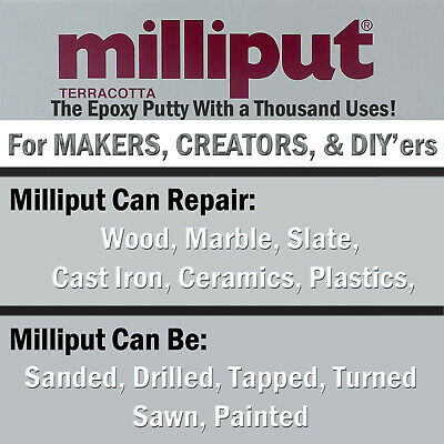 Milliput TERRACOTTA Epoxy Self Hardening Putty Modelling, Sculpting, Woodturning