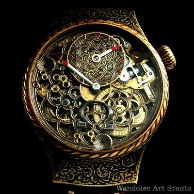OMEGA Vintage Mens Wrist Watch Skeleton Mechanical Regulateur Men's Wristwatch