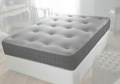 Grey Reflex Orthopaedic Sprung Mattress 3Ft Single 4Ft 4Ft6 Double 5Ft King