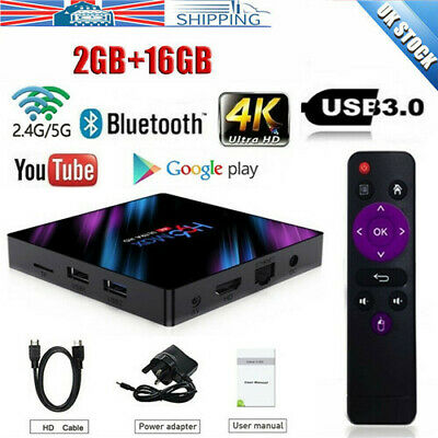 2019 H96 MAX RK3318 Android 9.0 2G+16GB Quad Core 4K BT 4.0 HDMI LED TV Box Wifi