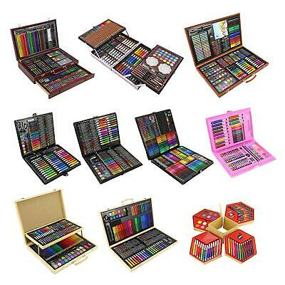 Childrens Craft Art Set Artist Box Crayons Pens Paints Pencils Activity Play Set