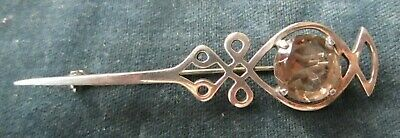Scottish solid silver kiltpin brooch - Malcolm Gray Orkney