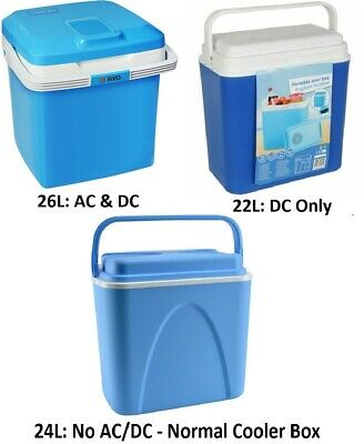 22L 24L 26L Cooler Hot/Cold Portable Cool Box Car Home Electric 240V AC / 12V DC