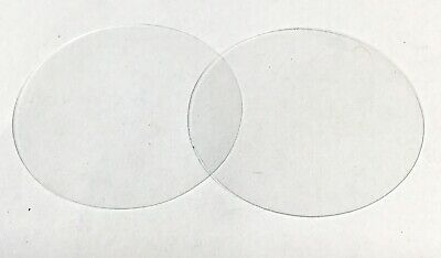early phonograph reproducer glass diaphragm, tempered, Edison/Graphophone, (2)