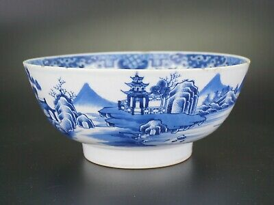 LARGE Antique Chinese Blue and White Porcelain Punch Bowl QIANLONG 18th C