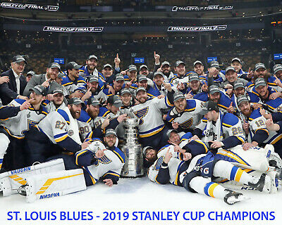 St. Louis Blues 2018-19 Stanely Cup Champions - 8x10 Color Team Photo