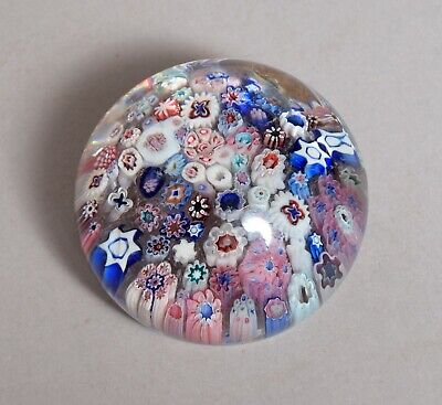 A Very Attractive Large Antique 19Thc English Glass Paperweight