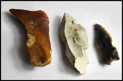 STONE AGE mesolithic neolithic knife blade saw FLINT tool 8500-3800 bc British