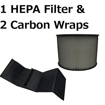 HEPA Filter for Filter Queen Defender Air Purifier 360 AM4000 D360 with 2 Wraps