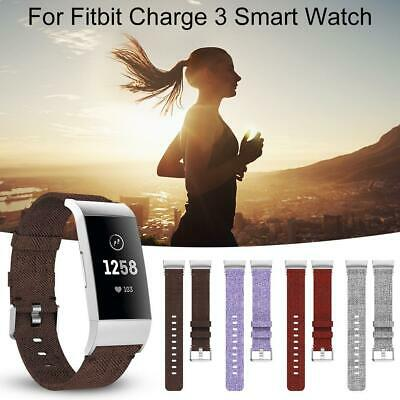 Replacement Canvas Wristband Strap Watch Band Bracelet For Fitbit Charge3