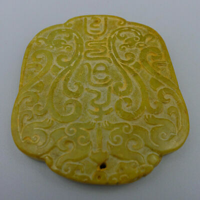 Hand Relief Totems Sculpture Collection Ancient Natural Old Jade Plate Pendants