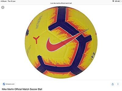 Nike Merlin Official Match Football Size 5 New Yellow
