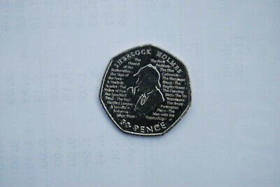 New Sherlock Holmes 2019 50p Fifty Pence Coin Rare Collectible BRAND NEW UNCIRC