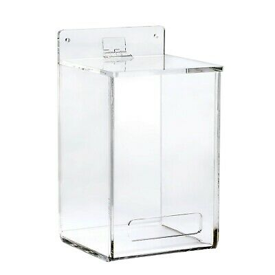 AdirOffice Clear Mountable Hairnet and Shoe Cover Dispenser 8.5 x 6.75 x 5