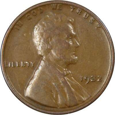 1932 1c Lincoln Wheat Cent Penny Average Circulated