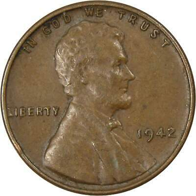 1942 1c Lincoln Wheat Cent Penny Average Circulated
