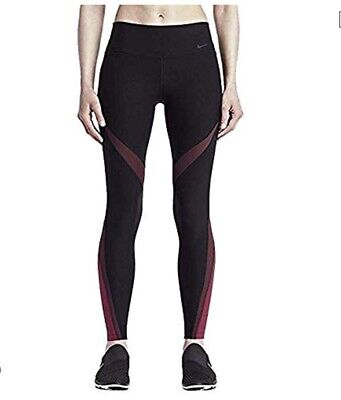 7f73a573c218a8 Womens Nike POWER Legend Tight Fit Twist Leggings Black/Red 833314-014 Size  Med