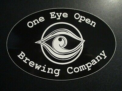 ONE EYE OPEN BREWING CO Portland Maine STICKER decal craft beer brewery