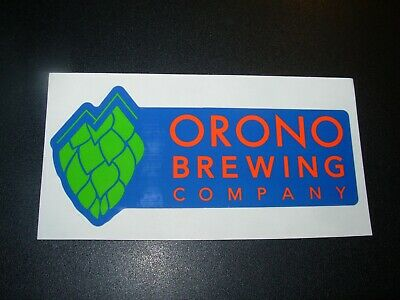 ORONO BREWING Maine blue logo STICKER decal craft beer brewery