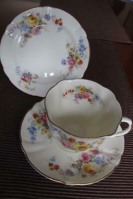 Royal Doulton V377 Maytime Trio - Tea Cup, Saucer & Plate Excellent Condition