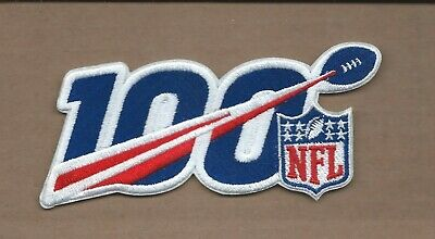 New 2 3/8 X 5 1/4 Inch Nfl Shield 100 Seasons Iron On Patch Free Shipping