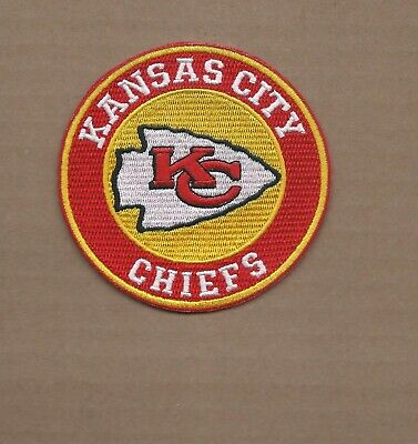 New 3 1/2 Inch Kansas City Chiefs Iron On Patch Free Shipping