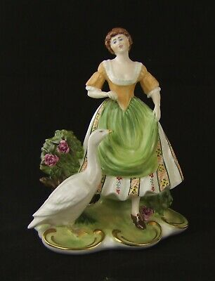 Coalport Figurine - The Goose Girl - Arcadian Collection - Limited Edition
