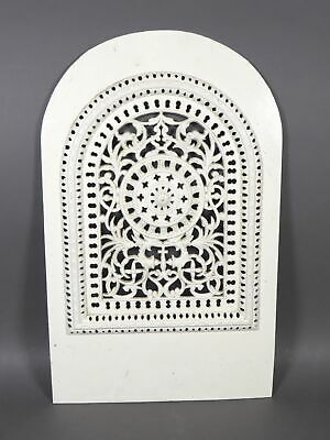 Antique White Cast Iron Fireplace Summer Cover W.Jackson & Son New York Insert