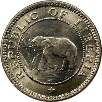 1941 LIBERIA 1//2 Cent ELEPHANT coin ! 250k Mintage UNC 1 Year Type