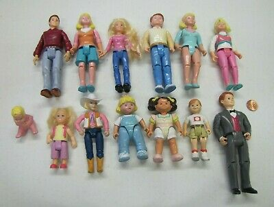 Fisher Price Loving Family Dollhouse DAMAGED DOLL PEOPLE Mom Dad Baby Kid Lot #1