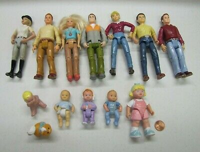 Fisher Price Loving Family Dollhouse DAMAGED DOLL PEOPLE Mom Dad Baby Kid Lot #3