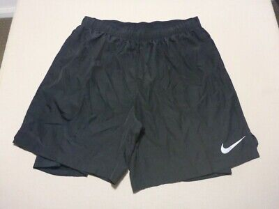 069 Mens Nwot Nike Black Stretch Track Shorts Sze Lrg $80 Rrp.