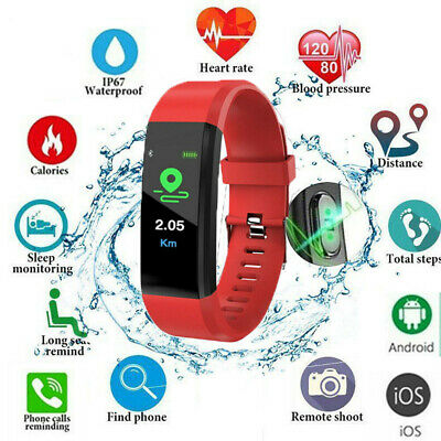Fitness Smart Watch Activity Tracker Heart Rate Women Men Kids For Android iOS