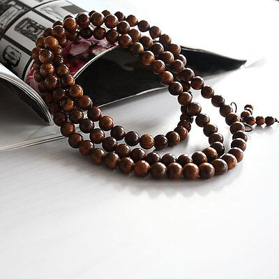 Fragrant Black rosewood108 8MM Buddhist Prayer Bead Mala Necklace/Bracele In US