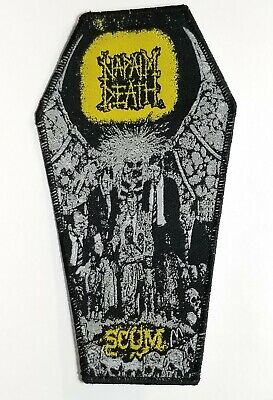 Napalm Death  Scum  Black Border Yellow Logo  WOVEN PATCH