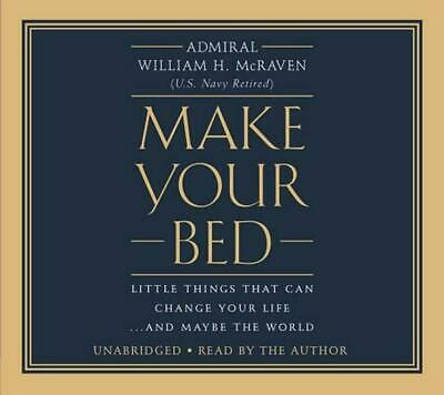 Make Your Bed by Admiral William H. Mcraven Compact Disc Book Free Shipping!