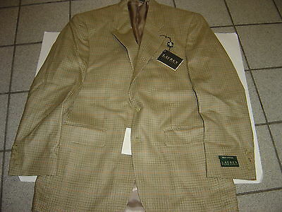 New Mens Ralph Lauren Tan & Olive  Silk & Wool Blazer Size 38 R  $325