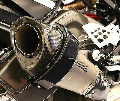 R&G Racing Akrapovic Hexagonal Exhaust Silencer Can Protector in Black