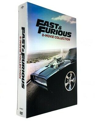 Fast and Furious: 8-Movie Collection (DVD, 2017, 9-Disc Set) New&sealed