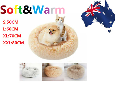 HOT Puppy Winter Pet Calming Bed Round Nest Warm Soft Plush Sleeping Bag S L NEW