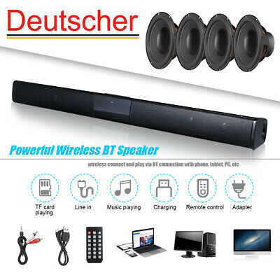 TV Sound Bar 3D Surround Home Theater Soundbar Wireless Subwoofer Bluetooth