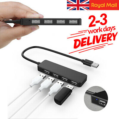 Super Speed 4 Port USB 3.0 Multi HUB Splitter Expansion PC Laptop Cable Adapter