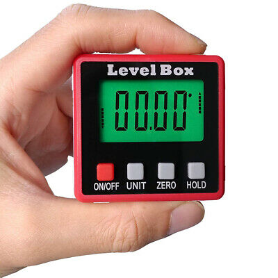 NEW Digital LCD Protractor Gauge Angle Finder Bevel Level Box Inclinometer Meter
