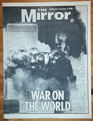 9/11 Newspaper War on the World Historical Ephemera I II Unforgettable Day Retro