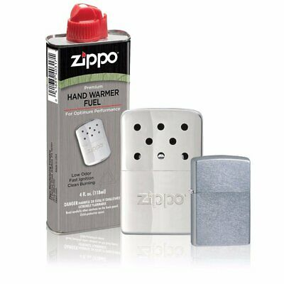 Zippo 40351, 6 Hour Hand Warmer Gift Set, With Street Chrome Lighter