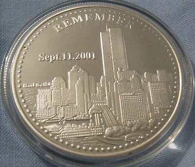 9/11 Silver Coin Utd World Trade Center September 11 2001 Fire Man New York City