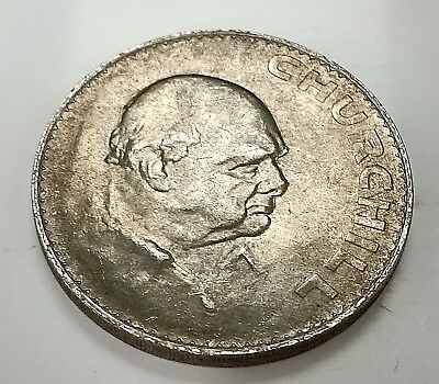 Winston Churchill Silver Crown Coin 1965 Prime Minister Great Leader Hitler UK